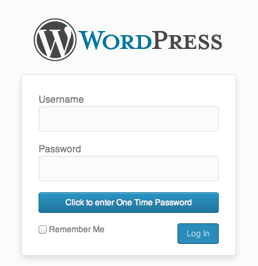 The new Two Factor Auth button on the login page
